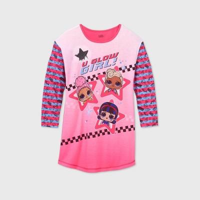 Girls' L.O.L. Surprise! 'U Glow Girl' Dorm Nightgown - Pink
