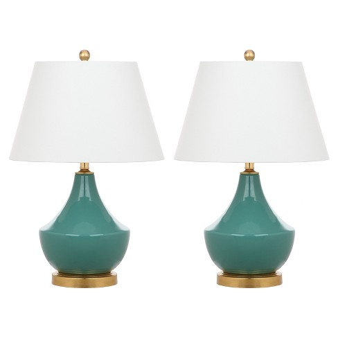 Bailey Green/Gold Ceramic Table Lamp Set of 2 - Safavieh - image 1 of 3