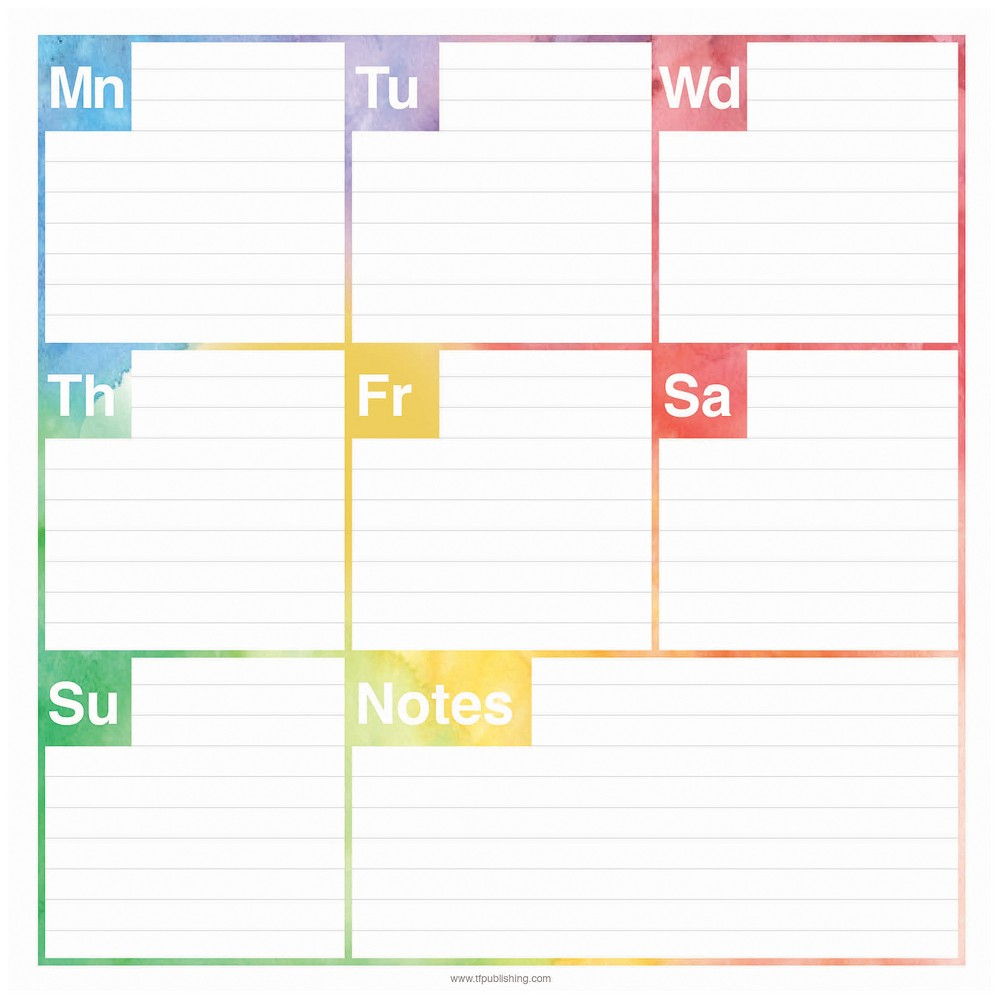 TF Publishing Elements Weekly Non-Dated Adhesive Desk Pad, (7.75