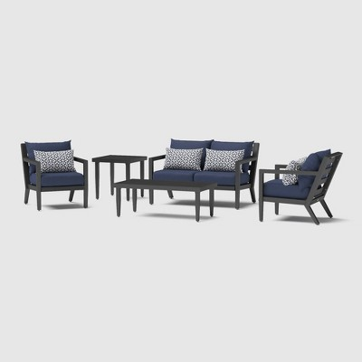 Thelix 5pc Seating Set - Spa Blue - RST Brands