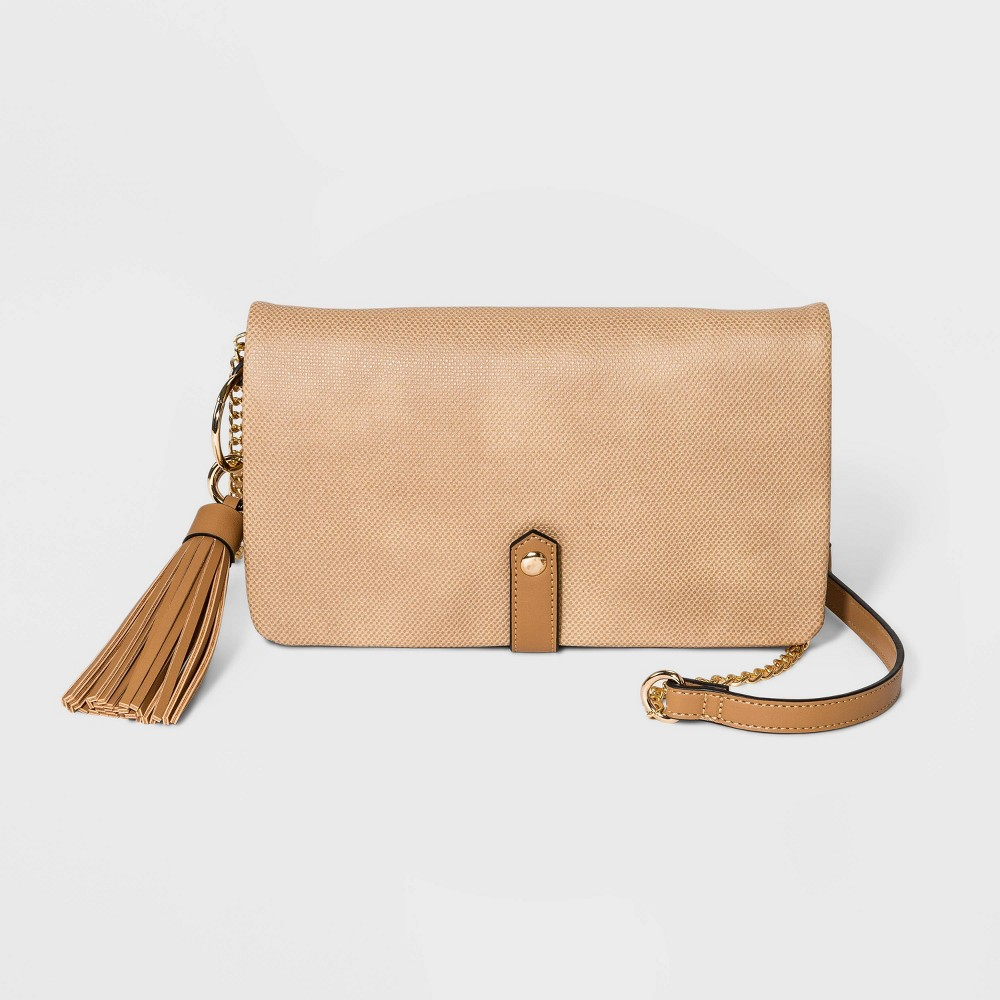 Image of VR NYC Convertible Foldover Compartment Crossbody Bag - Brown