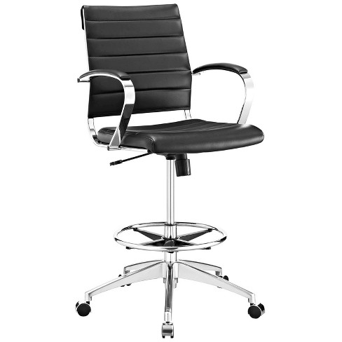 Jive Drafting Chair Black - Modway - image 1 of 4