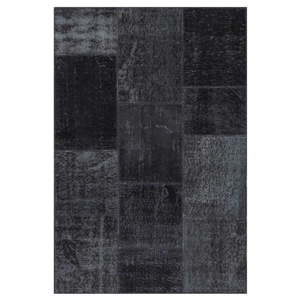 "Image of ""Antique Patchwork Accent Rug Coal (Grey) 3'11""""x 5'11"""""""
