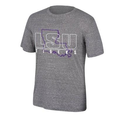 NCAA LSU Tigers Men's Gray T-Shirt