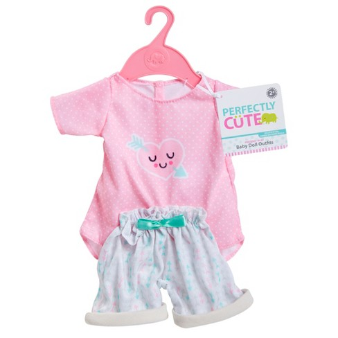 Perfectly Cute Baby Doll Outfit 2pc Heart Top With Shorts Target