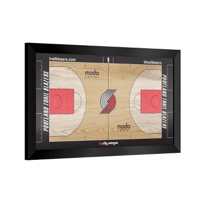 NBA Team Court Framed Plaque