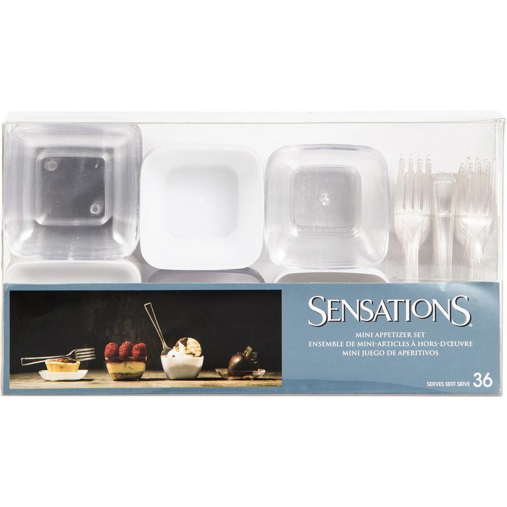 72ct Mini Appetizer Set, Clear