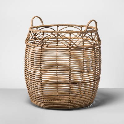 Rattan Basket Large   Natural   Opalhouse™ by Shop Collections