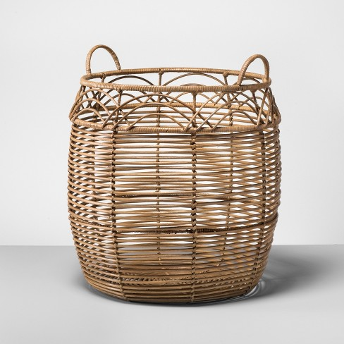 rattan basket large natural opalhouse target