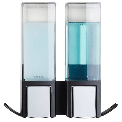 Clever Double Chamber Wall Mount Soap and Sanitizer Dispenser Black - Better Living Products