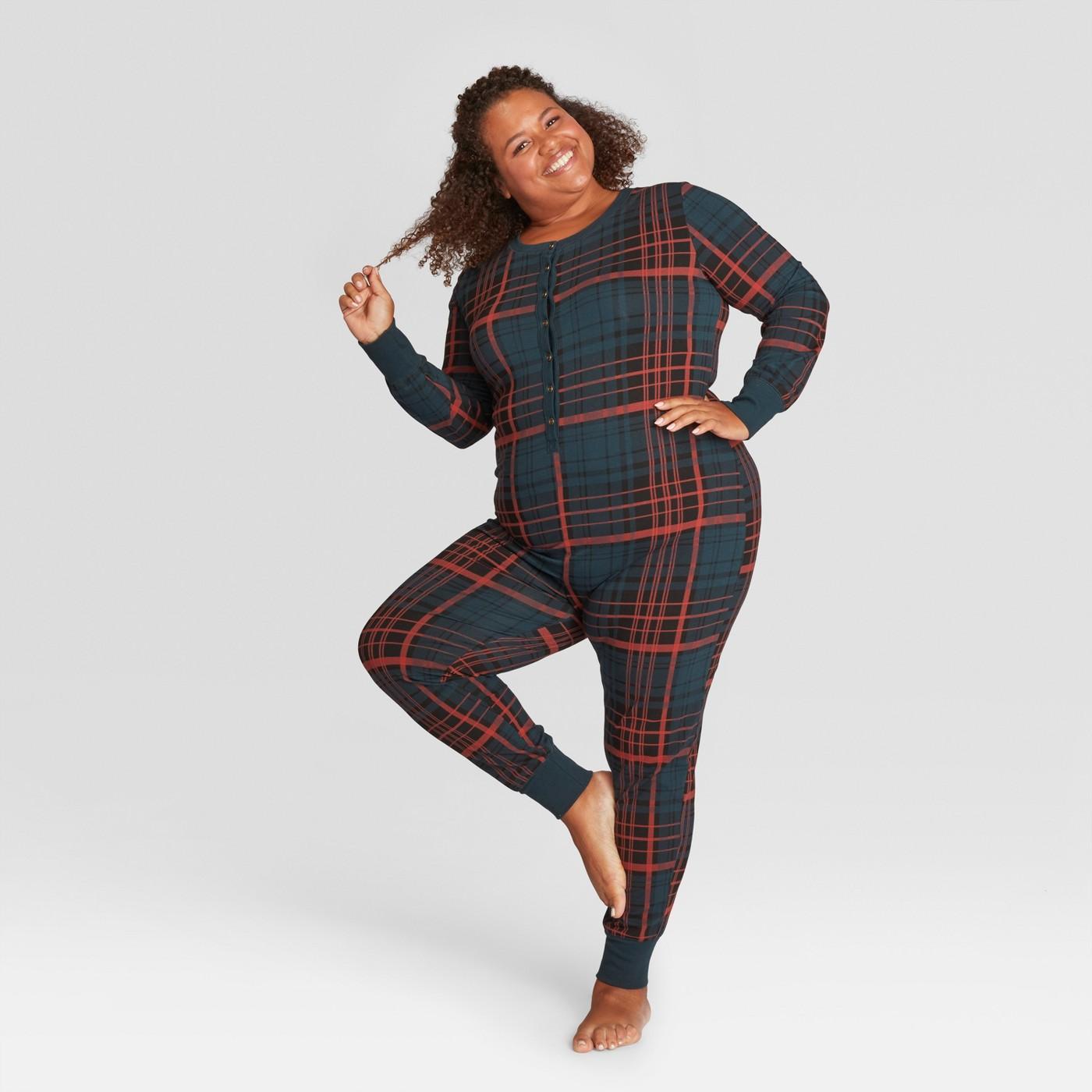 Plaid Pajama Union Set