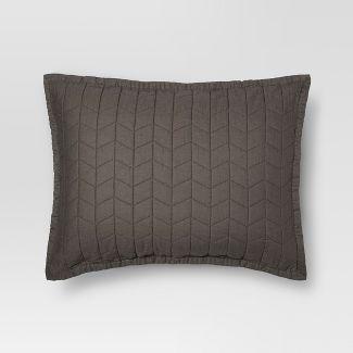 Gray Vintage Washed Solid Sham (Standard) - Threshold™