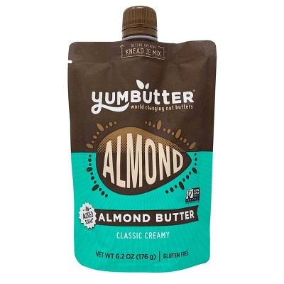 YumButter Classic Creamy Almond Butter No Added Sugar Pouch - 6.2oz