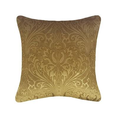 "20""x20"" Oversize Embossed Panne Velvet Square Throw Pillow - Edie@Home"