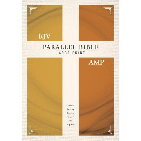 KJV, Amplified, Parallel Bible, Large Print, Hardcover, Red Letter Edition  - by Zondervan