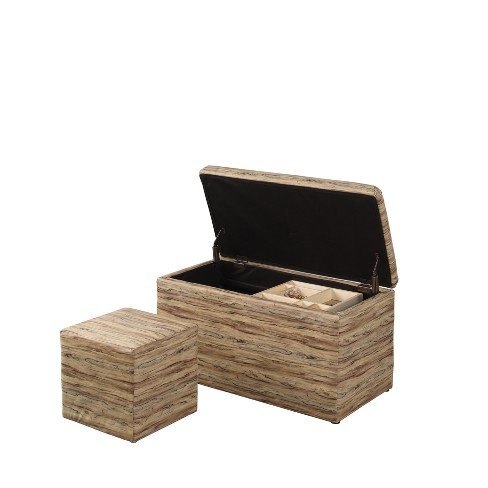 Ore International 1 Seating Storage Ottoman with Hidden Tray - image 1 of 4