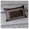 6pc Harmony Jacquard Quilt Set Gray/Taupe - image 3 of 4