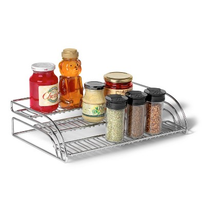 Spectrum Tiered Shelf Organizer - Chrome