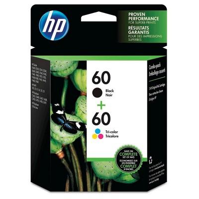 HP 60 Combo 2pk Ink Cartridges - Black, Tri-color (N9H63FN#140)