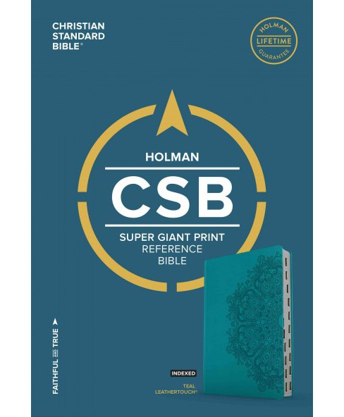 Holy Bible : Christian Standard Bible, Teal Leathertouch, Super Giant Print Reference Bible (Indexed) - image 1 of 1