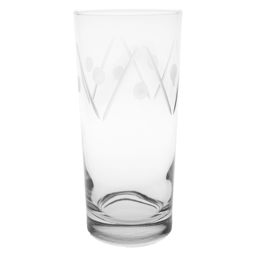 Image of 15oz 4pk Shimmy Glass Coolers - Rolf Glass, Clear