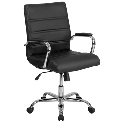 Mid Back Leather Chair - Riverstone Furniture Collection - image 1 of 7