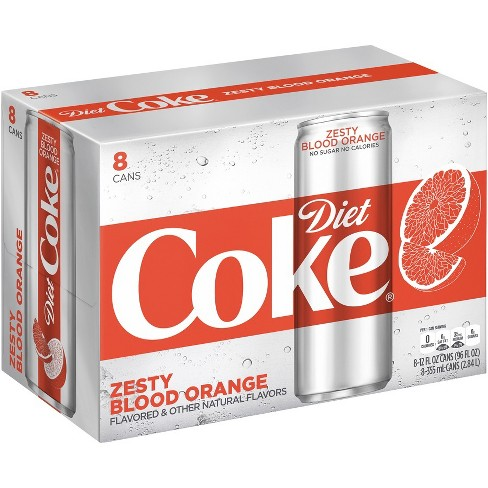 Diet Coke Zesty Blood Orange - 8pk/12 fl oz Sleek Cans - image 1 of 3