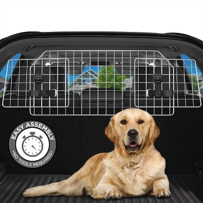 Jumbl Dog Barrier for SUV's, Cars & Vehicles, Heavy-Duty - Adjustable Pet Barrier, Universal Fit