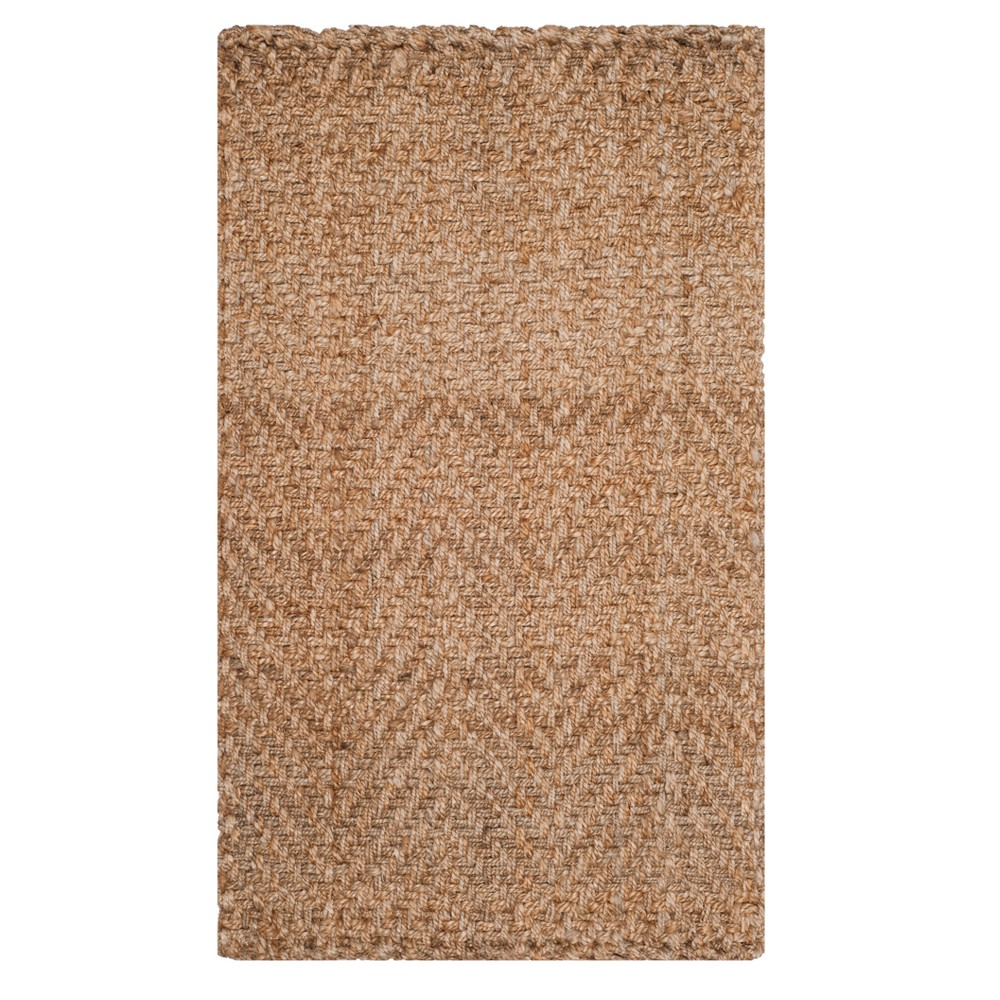 Natural Solid Woven Accent Rug 4'X6' - Safavieh, White