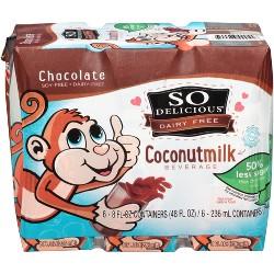 So Delicious Chocolate Coconut Milk Dairy Free - 6ct