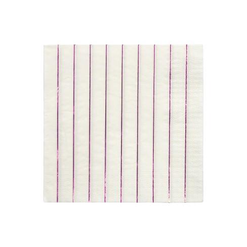 Meri Meri Metallic Pink Stripe Large Napkins - image 1 of 2