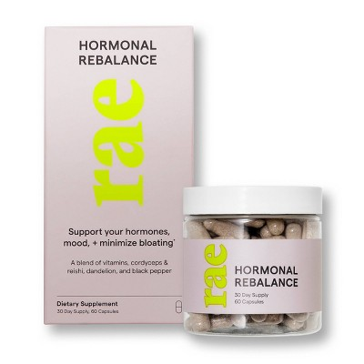 Rae ReBalance Dietary Supplement Capsules for Hormone Balance - 60ct