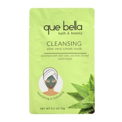 Que Bella Deep Cleansing Aloe Vera Cream Face Mask - 0.5oz