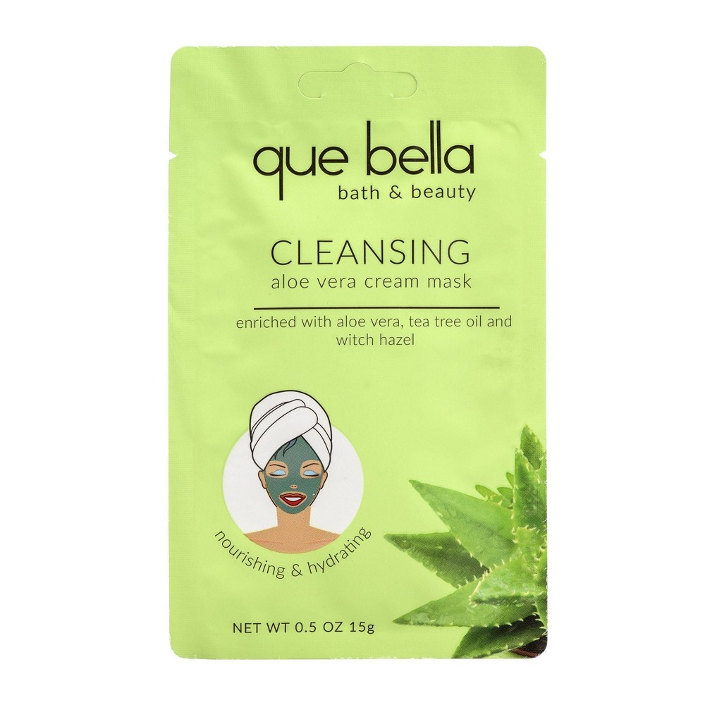 Image of Que Bella Deep Cleansing Aloe Vera Cream Face Mask - 0.5oz