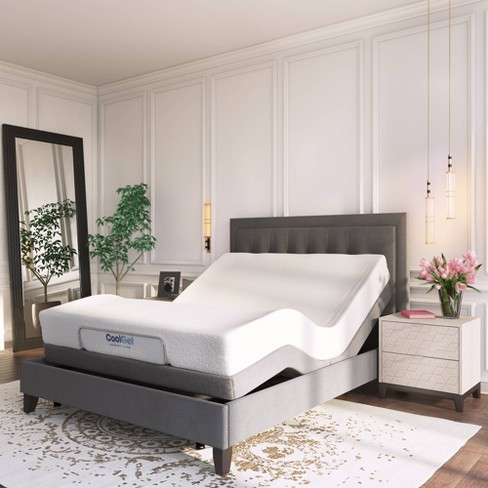 Venere Adjustable Bed Base Jubilee, Queen Upholstered Platform Bed Frame With Legs Jubilee Mattress