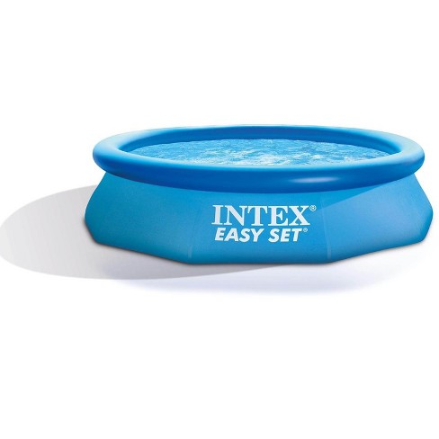 Intex 10ft x 30in Easy Set Above Ground Inflatable Pool, Filter, & Pump (2 Pack) - image 1 of 4