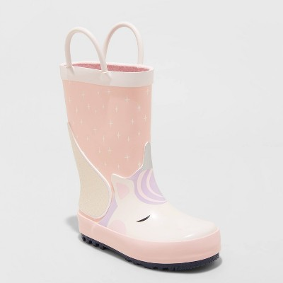 Toddler Girls' Neely Unicorn Rain Boots - Cat & Jack™ Pink