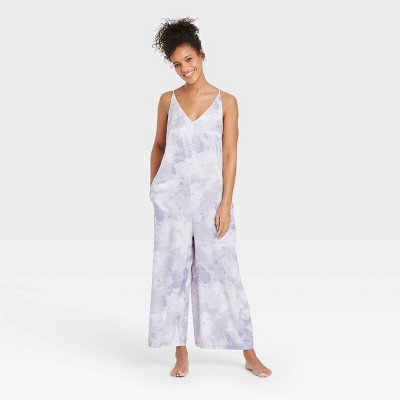 Women's Tie-Dye Satin Jumpsuit - Stars Above™ Purple