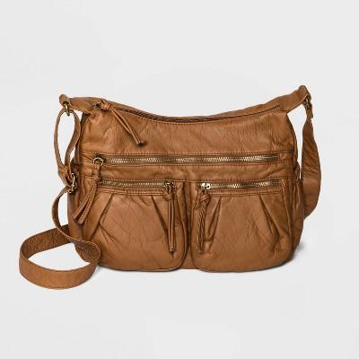 Bueno Zip Closure Crossbody Bag - Tan