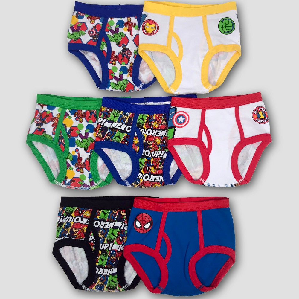 Toddler Boys' Marvel Classic Briefs - Colors Vary 4T, Multicolored