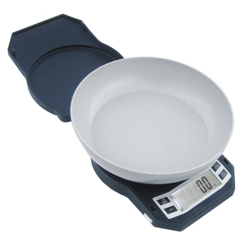 American Weigh Aws Compact High Precision Kitchen Bowl Scale, Black