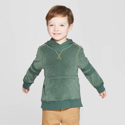 Genuine Kids® from Oshkosh Toddler Boys' French Terry Hoodie - Green 12M