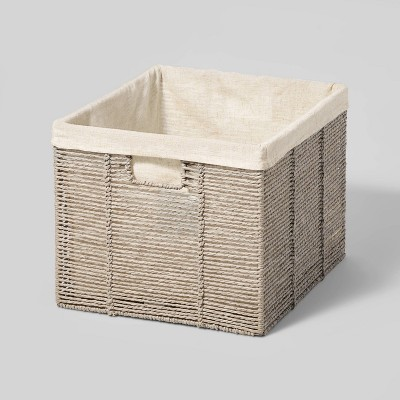 """14.75"""" x13"""" x11"""" Large Lined Milk Crate - Threshold™"""