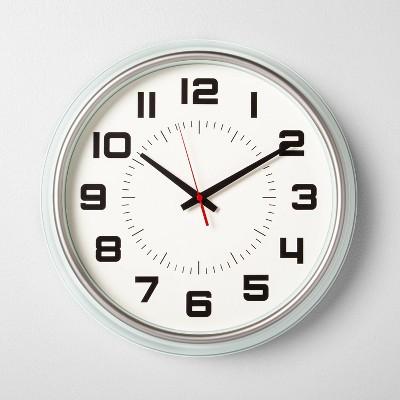 "16"" Clock Silver Green - Hearth & Hand™ with Magnolia"