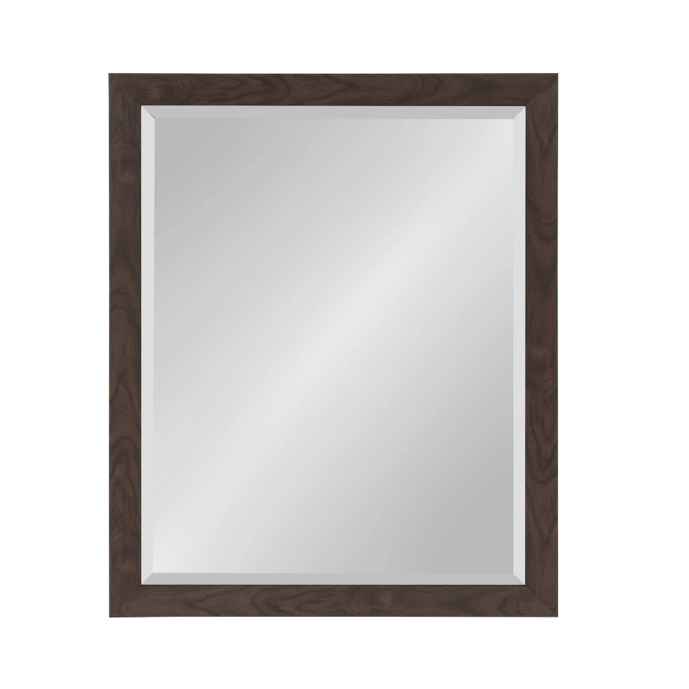 """Image of """"25""""""""x31"""""""" Beatrice Framed Wall Mirror Walnut Brown - Kate and Laurel"""""""