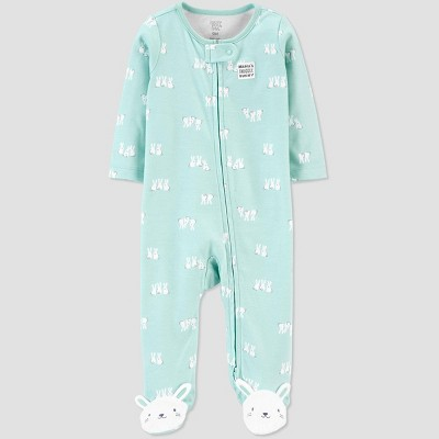 Baby Bunny 1pc Pajama - Just One You® made by carter's BLUE TULIP 9M