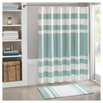 "72""x72"" Spa Waffle Shower Curtain with 3M Treatment Aqua"