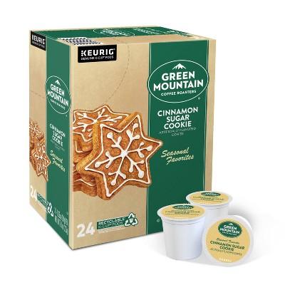 24ct Green Mountain Coffee Cinnamon Sugar Cookie Keurig K-Cup Coffee Pods Flavored Coffee Light Roast