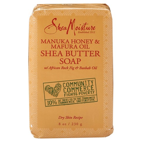 SheaMoisture Community Commerce Manuka Honey & Mafura Oil Shea Butter Soap - 8 oz - image 1 of 2