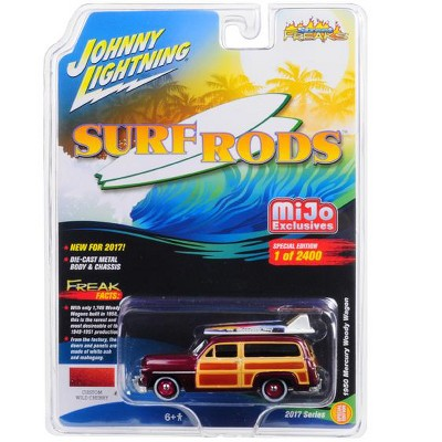 1950 Mercury Woody Wagon Custom Wild Cherry Limited Edition 2400pc Surf Rods 1/64 Diecast Model Car by Johnny Lightning